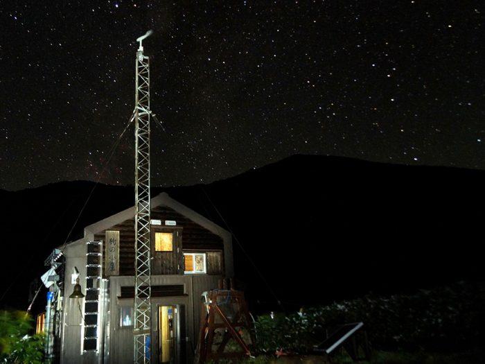 駒の小屋 星の降る夜
