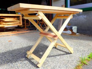 木工塾-折りたたみ机